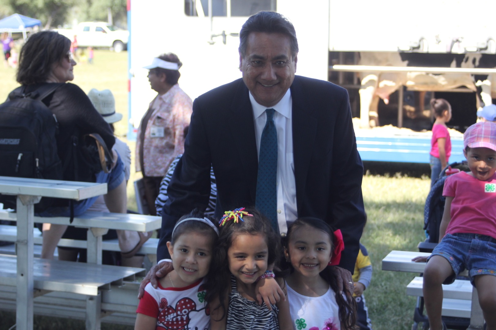 Dr. Ortiz at Farm Day