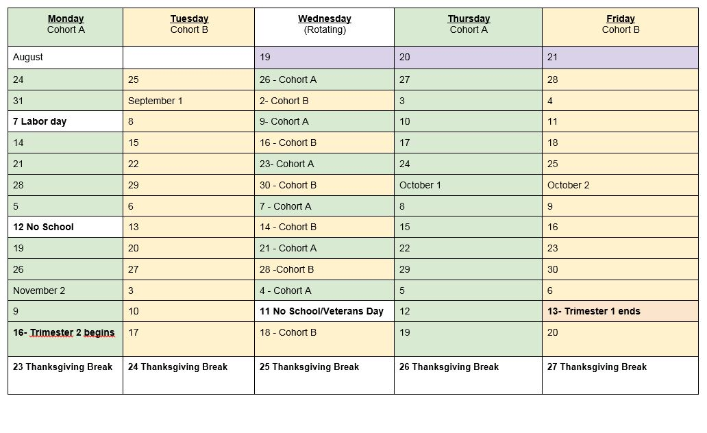 DISTANCE LEARNING SCHEDULES2