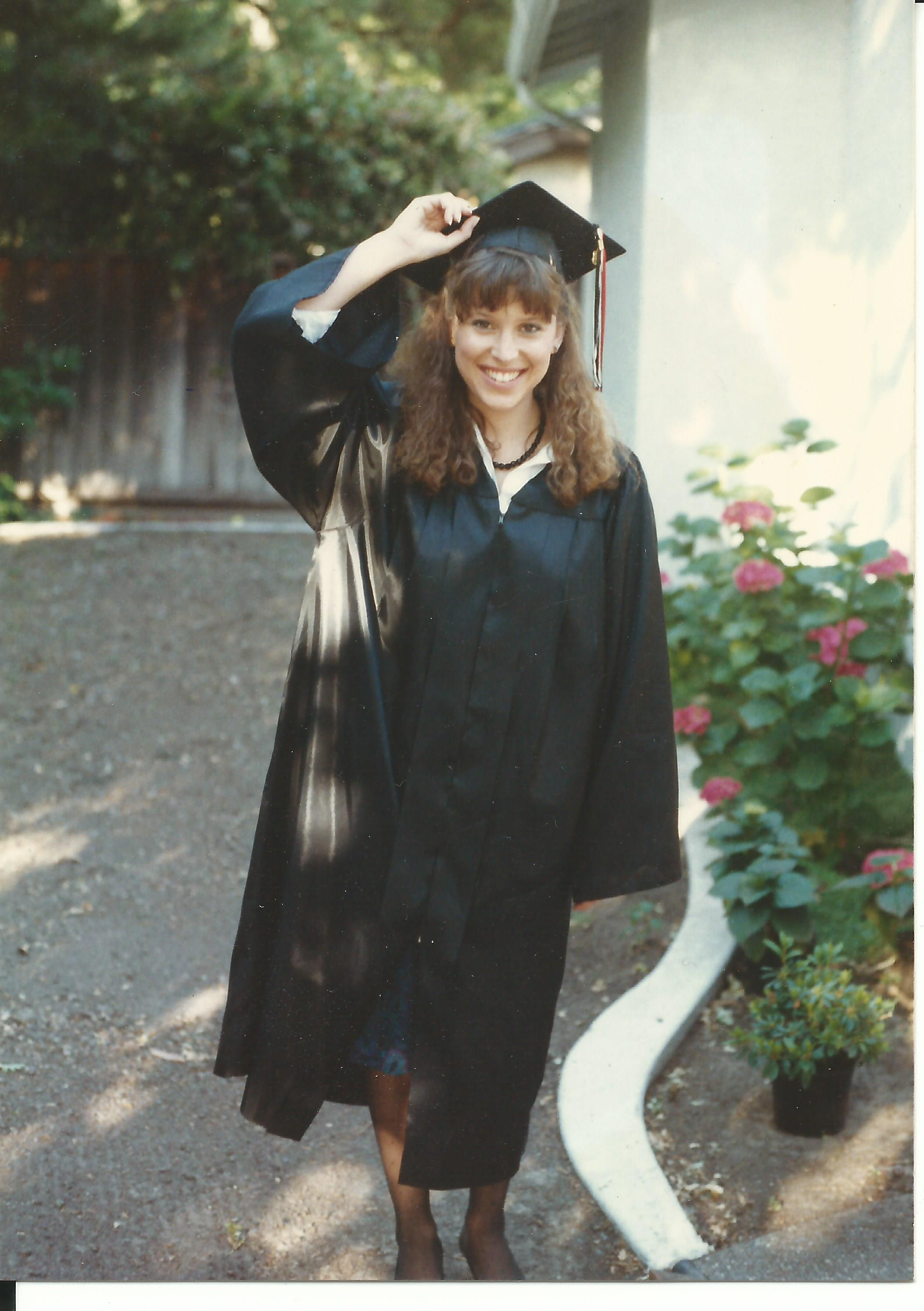 College Graduation Day, Janine Santos 1988