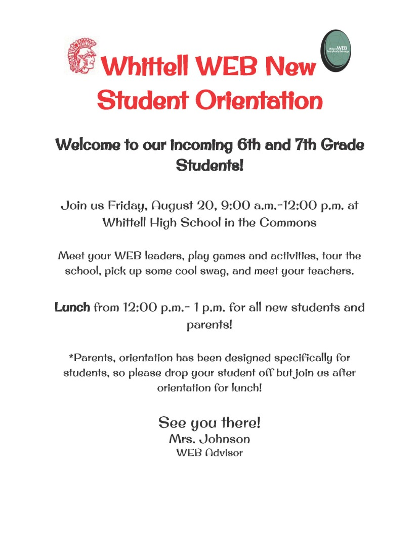 WEB for WHS 6th & 7th grades