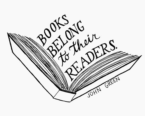 books belong to their readers