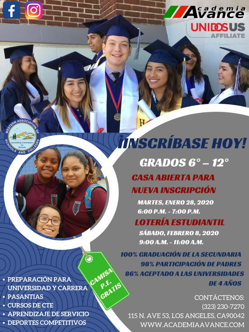 Avance enrollment 2020 spanish flyer