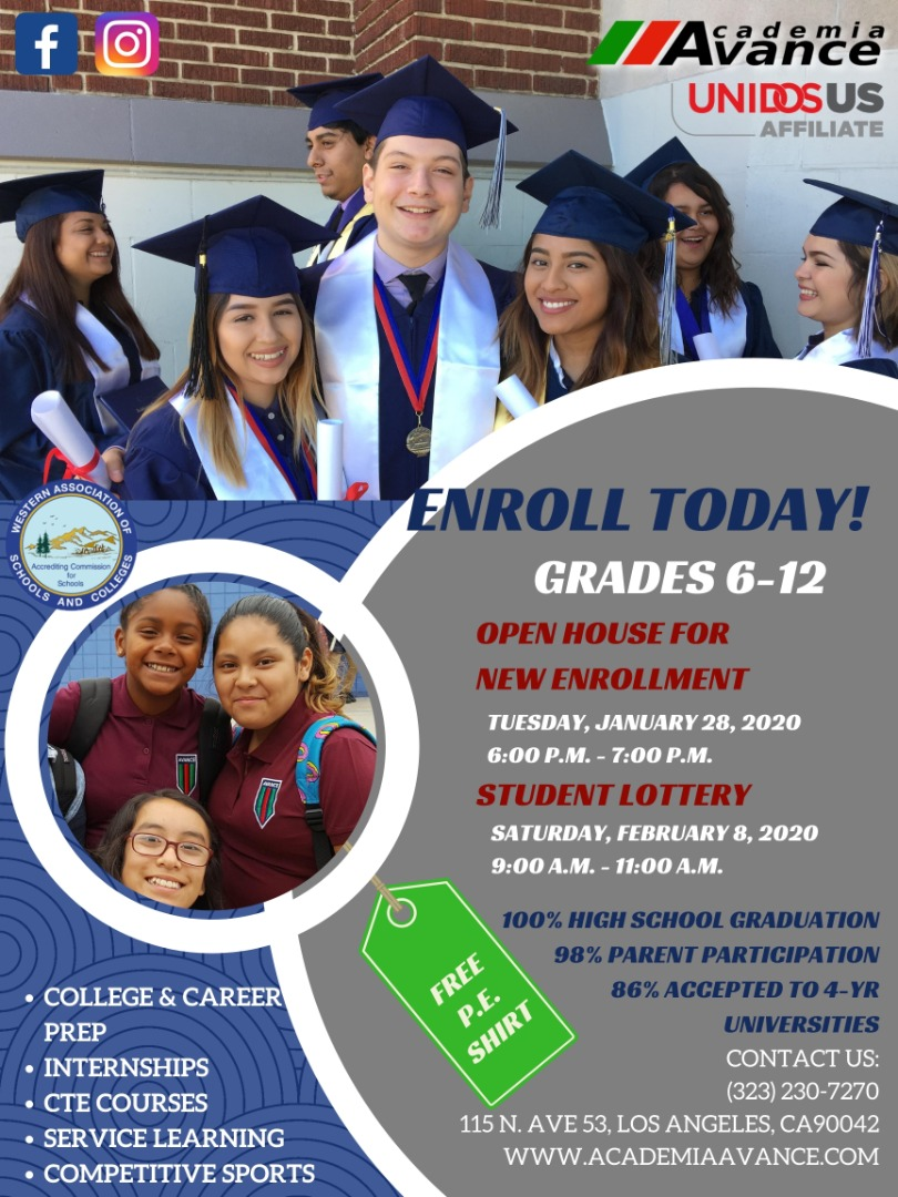 Avance enrollment 2020 english flyer