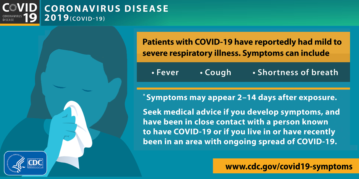 CDC Infographic for COVID-19