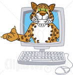 62898-Royalty-Free-RF-Clipart-Illustration-Of-A-Cheetah-Jaguar-Or-Leopard-Character-School-Mascot-In-A-Computer.jpg