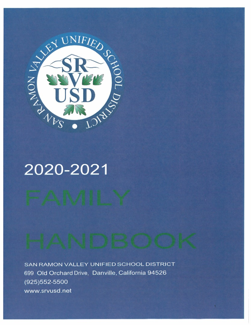 SRVUSD Handbook Cover picture