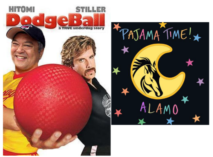 Dodgeball and Pajama Time Images here