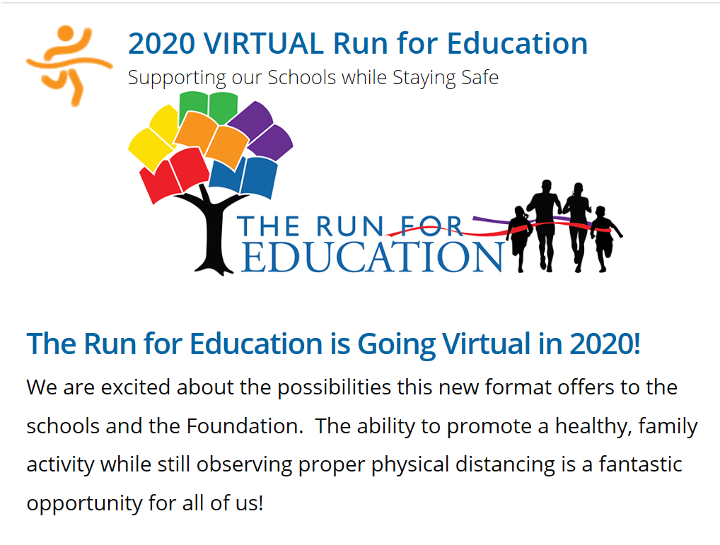Run For Ed is Virtual for 2020