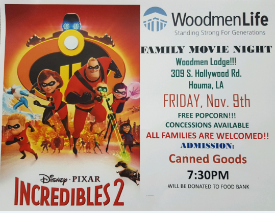 flyer for family movie night