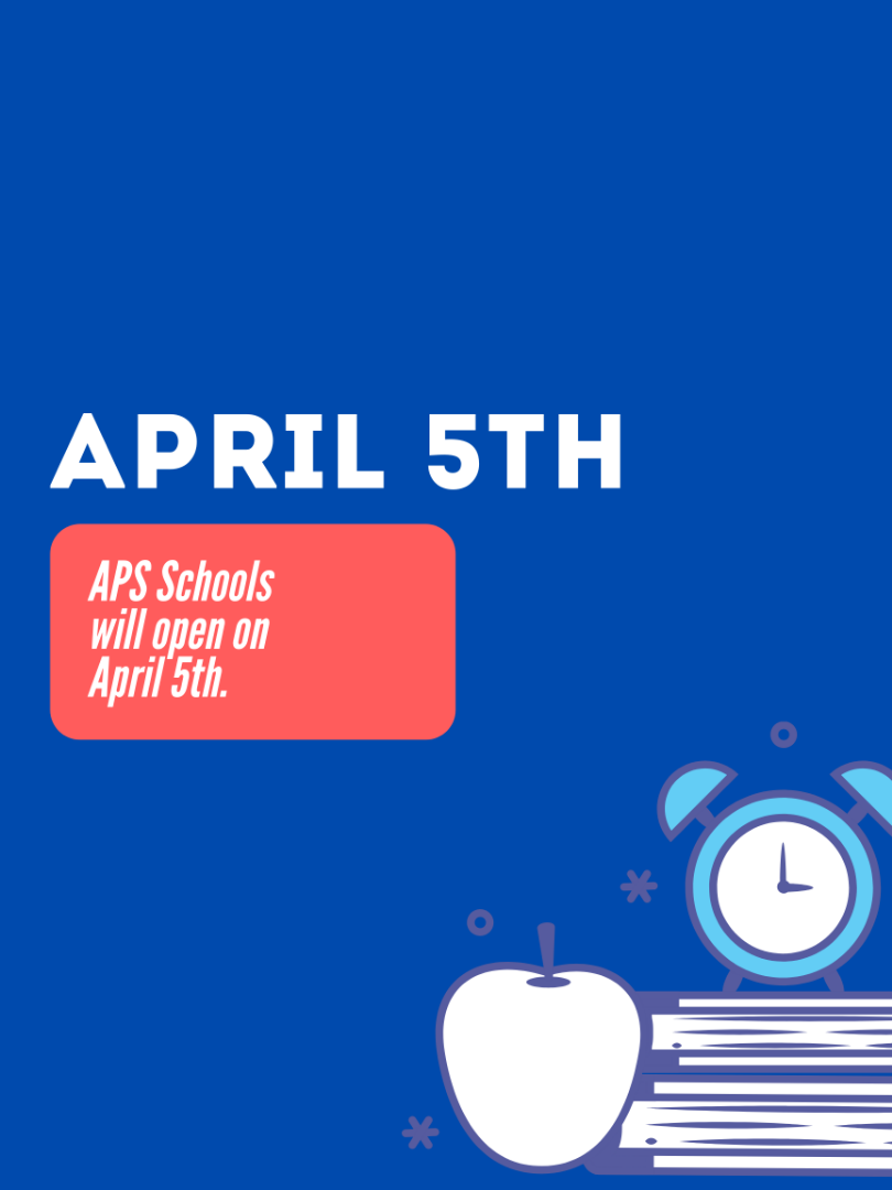 Schools reopen April 5th