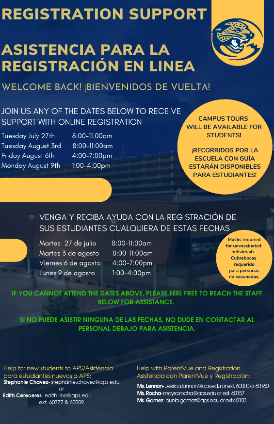 learn more about our registration support events