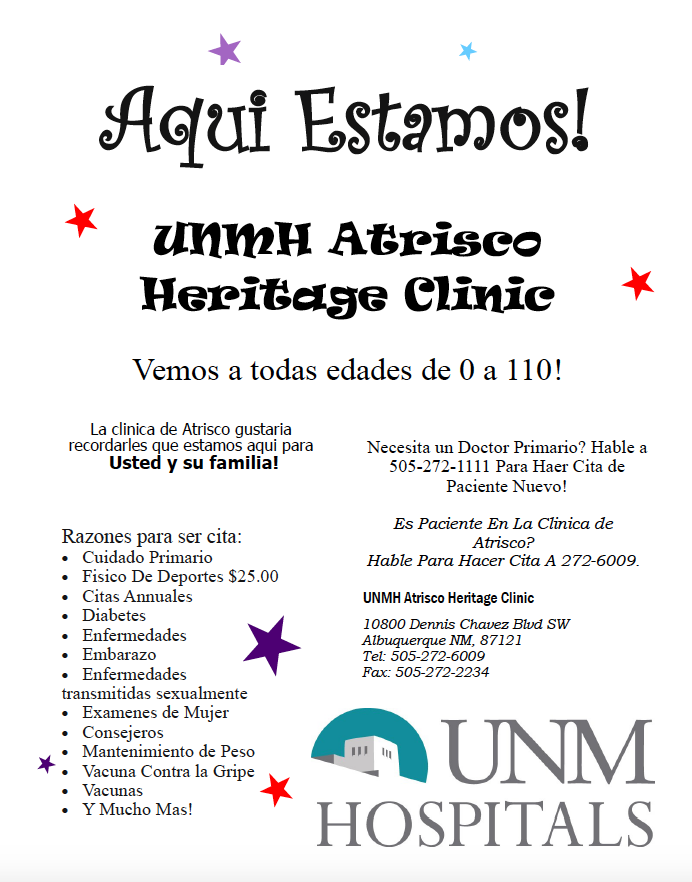 UNMH CLINIC SPANISH FLYER