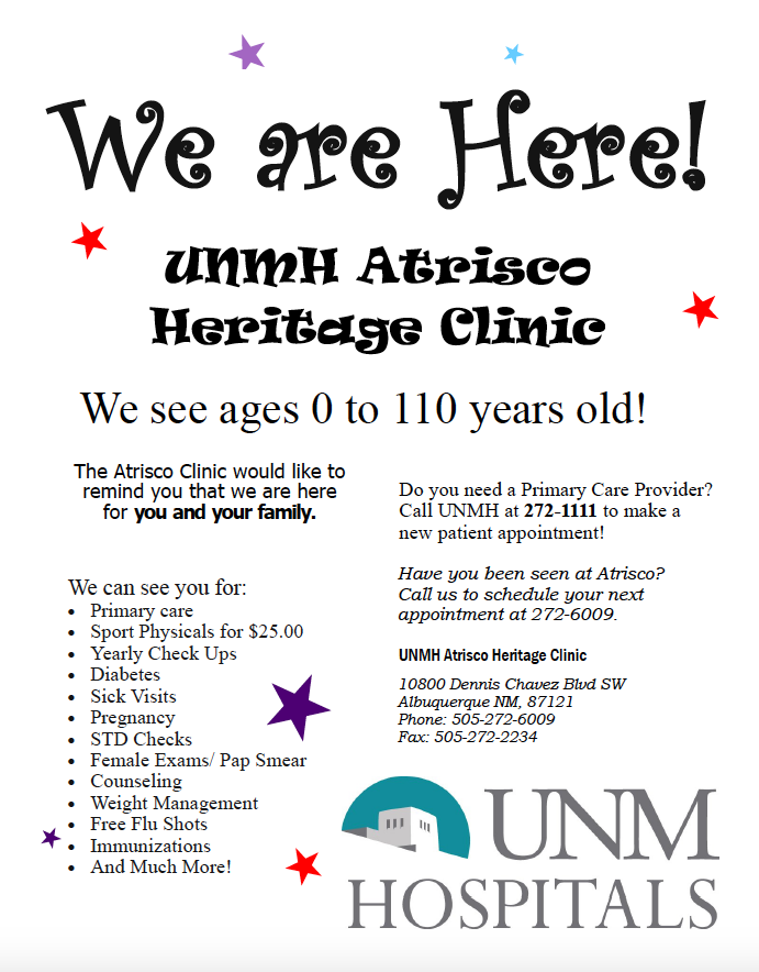 UNMH CLINIC FLYER