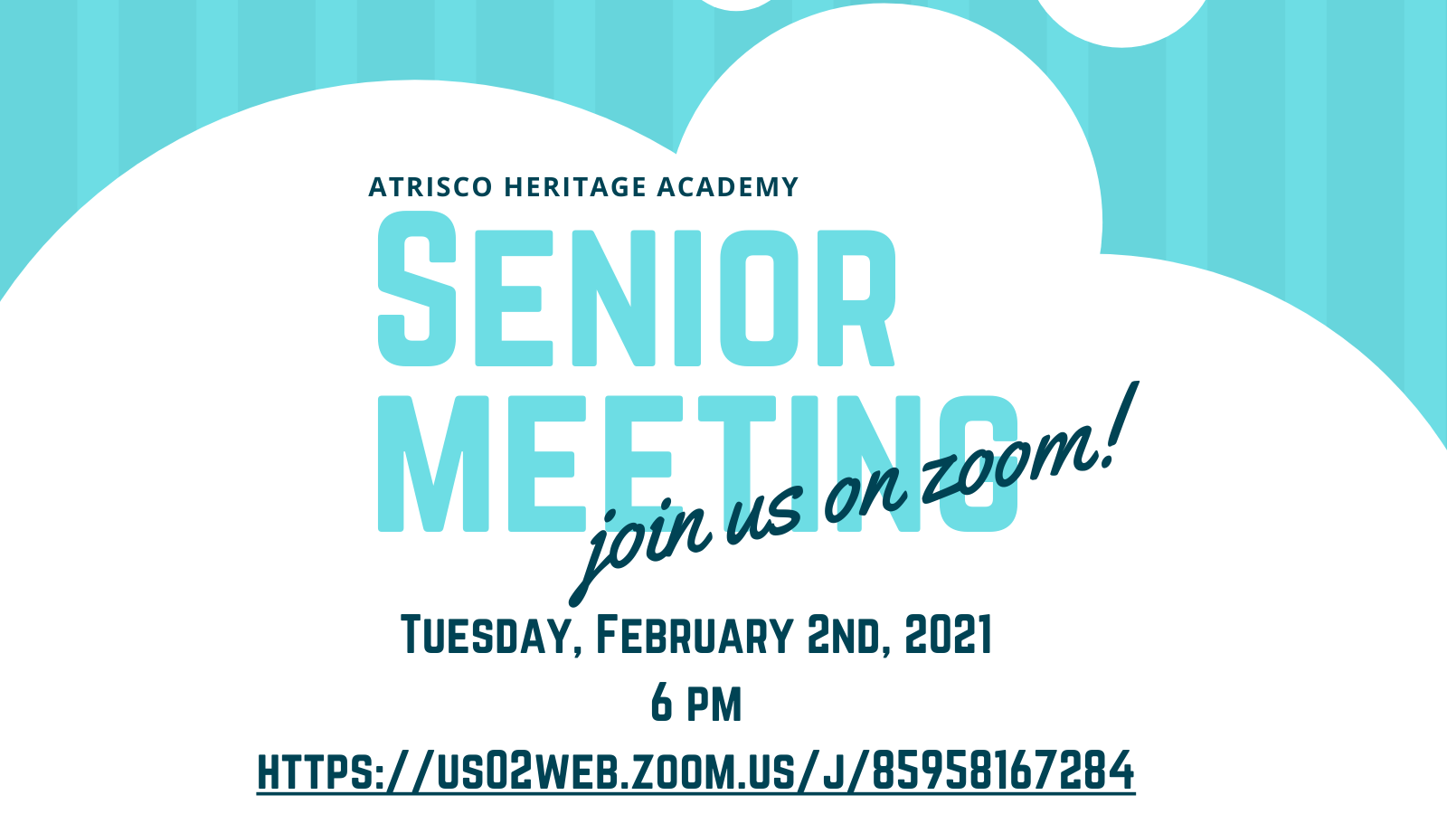 Next Senior Meeting is February 2nd