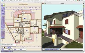 AutoCAD screen with diagram of house