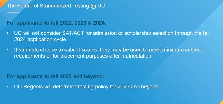 Future of testing at UC Slide