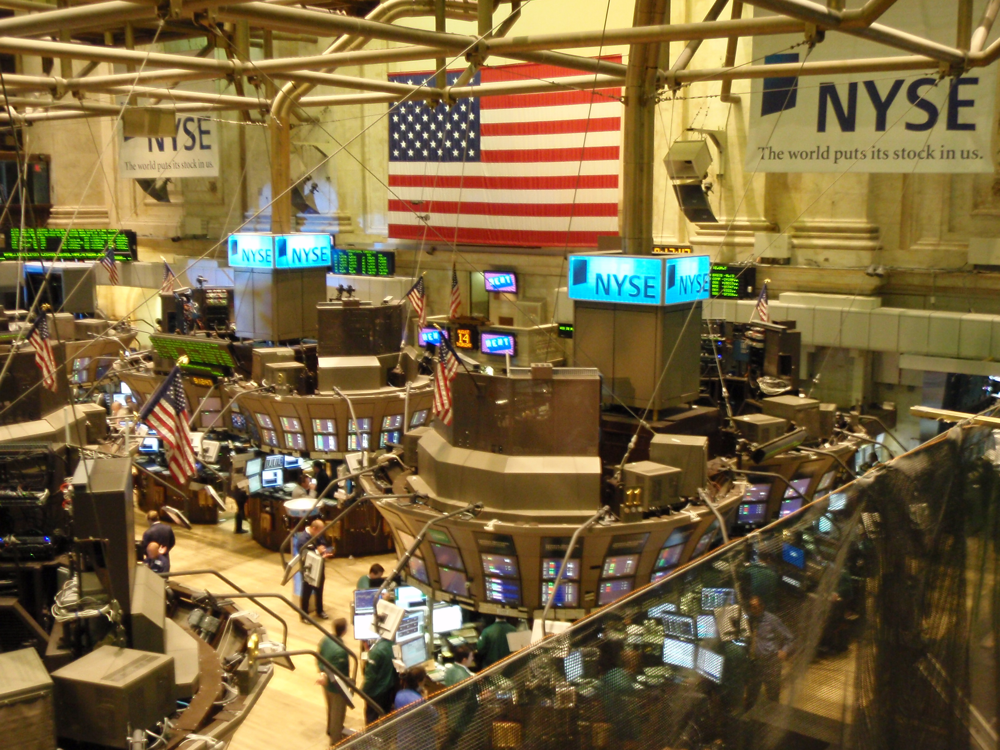 NYSE stock market floor