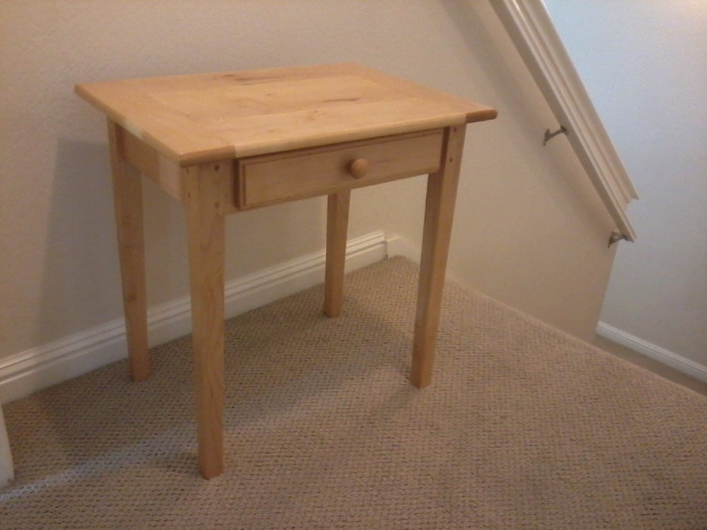 Maple Shaker four leg table with drawer