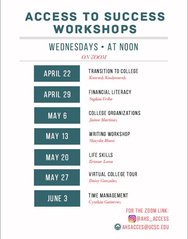 Access Program Workshops