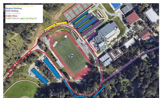Aptos High parking map