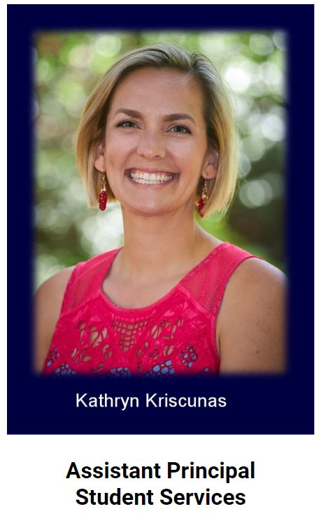 Assistant Principal of Student Services Katie Kriscunas