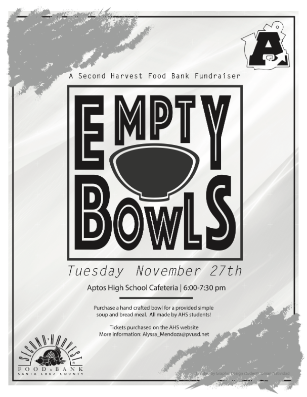 Empty Bowls fundraising for hungry Aptos HIgh