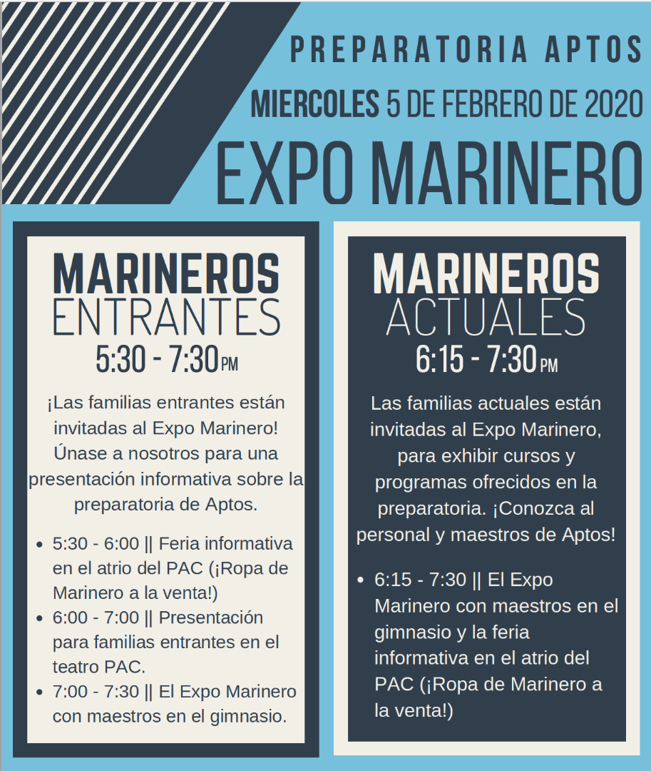 AHS Mariner Expo Event Flyer
