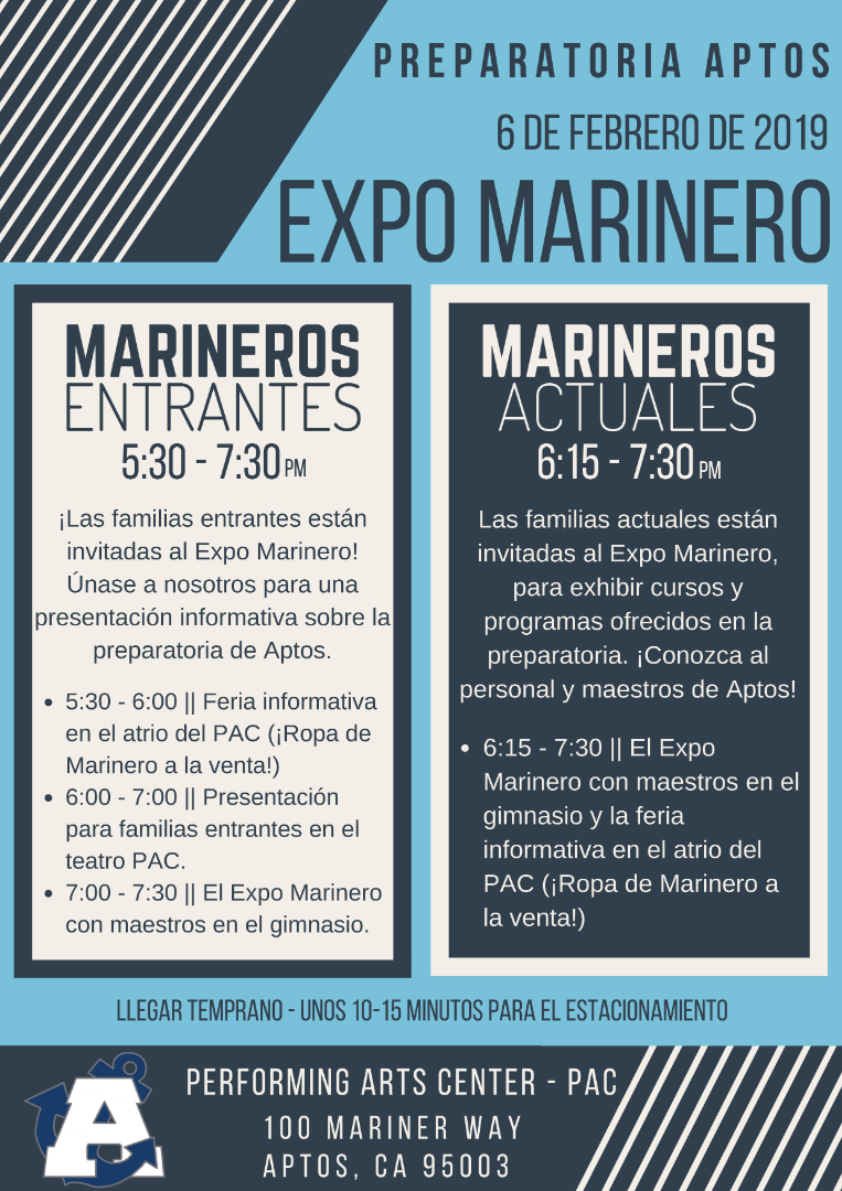 spanish version of mariner expo
