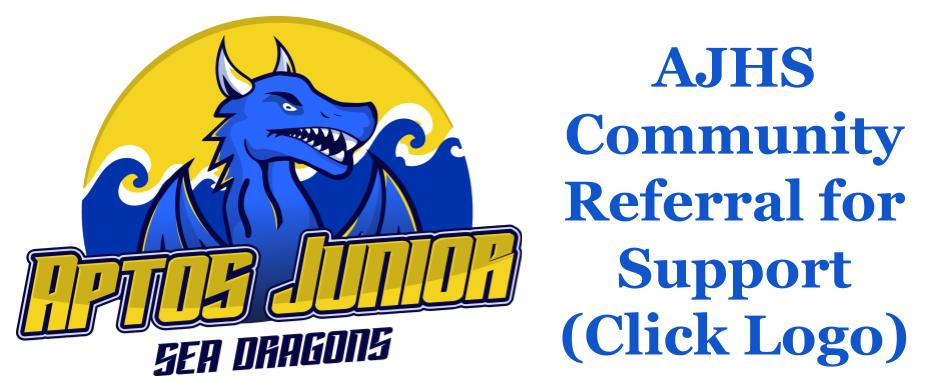 sea dragon logo is a link to a j h s community referral for support
