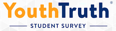 image says youth truth student survey and this is a link to take the student  survey