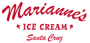 marianne's ice cream logo says marianne's ice cream in red letters