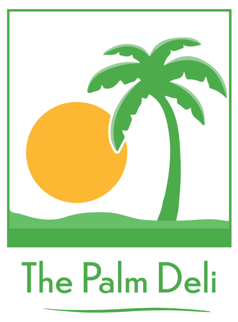 Palm Deli Logo with a palm tree and sun