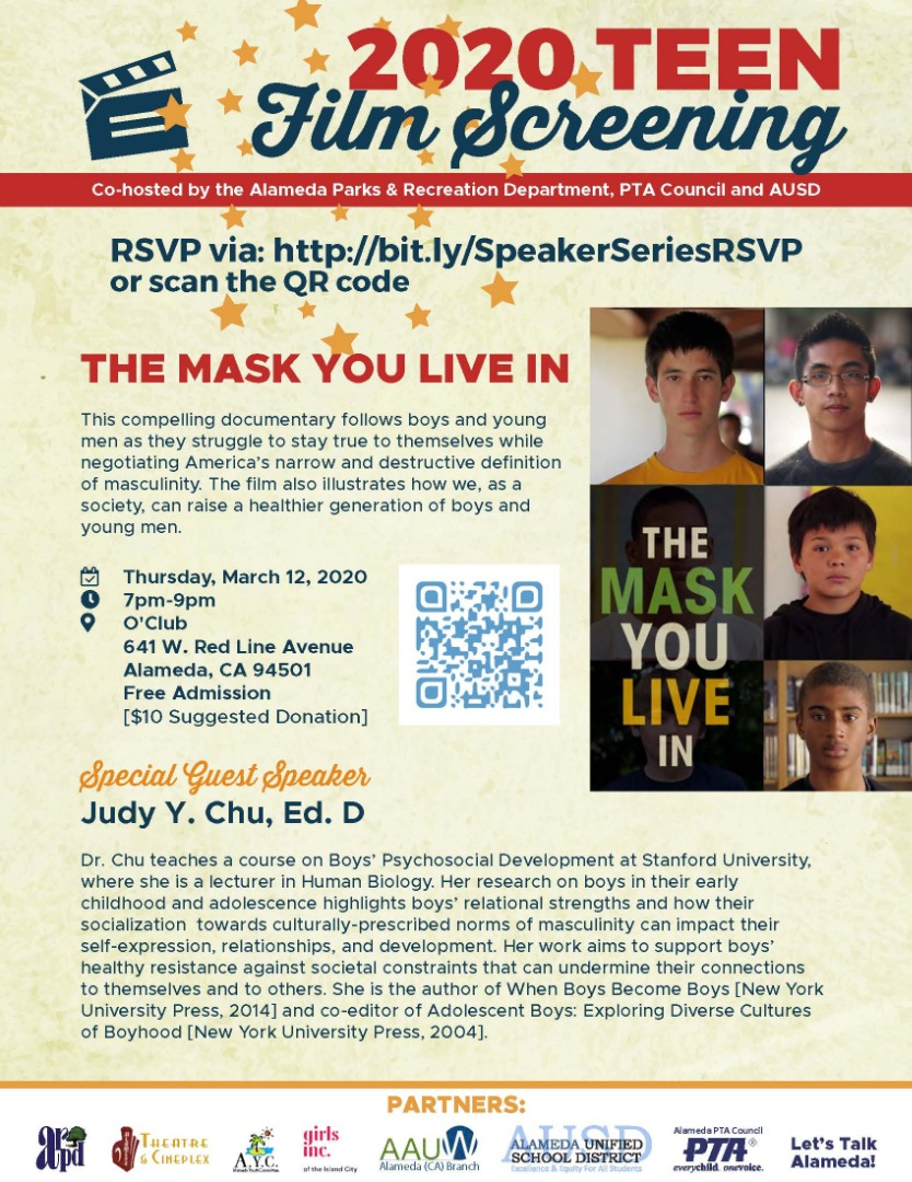 Flier for Mask You Live In