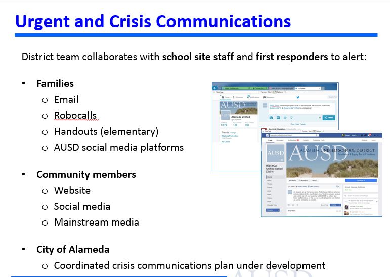 Urgent and crisis communications