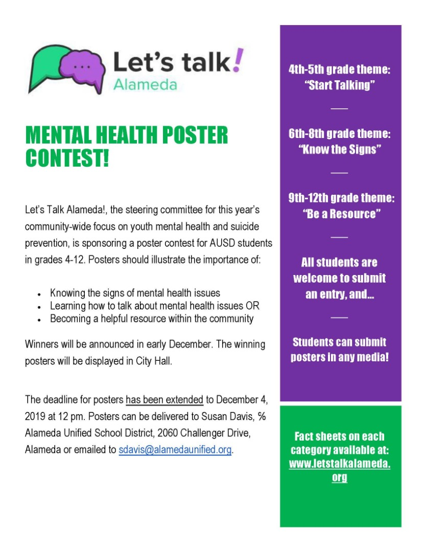 mental health poster contest flyer