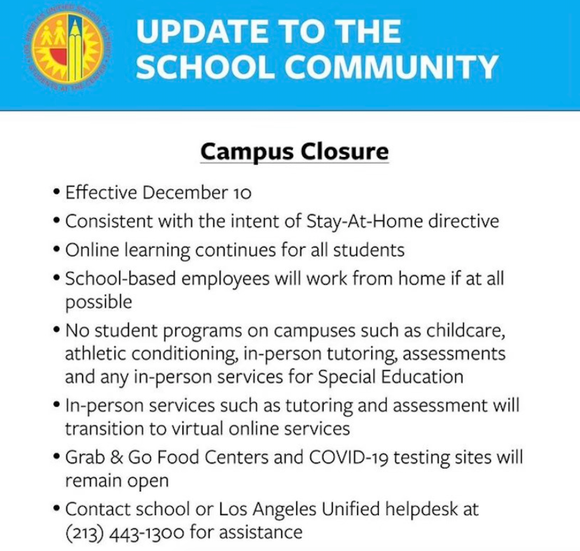 Campus Closure text