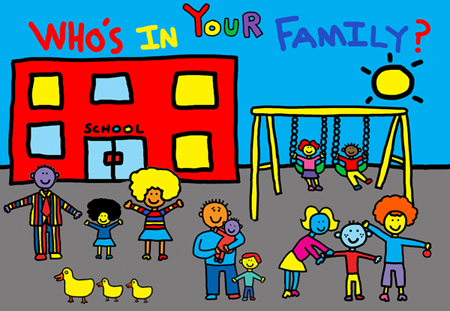 Who's in Your Family? drawing