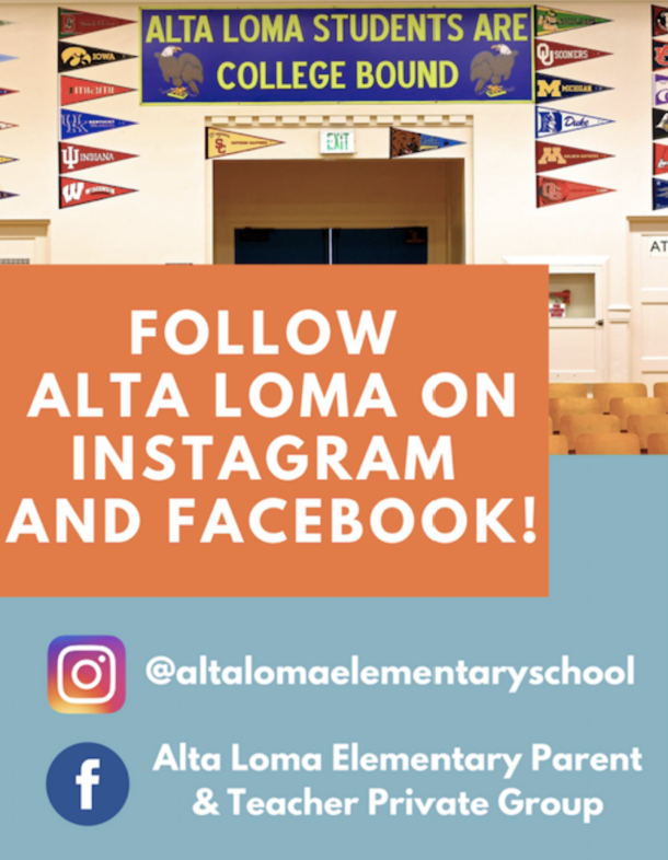 Follow Alta Loma on Instagram and Facebook