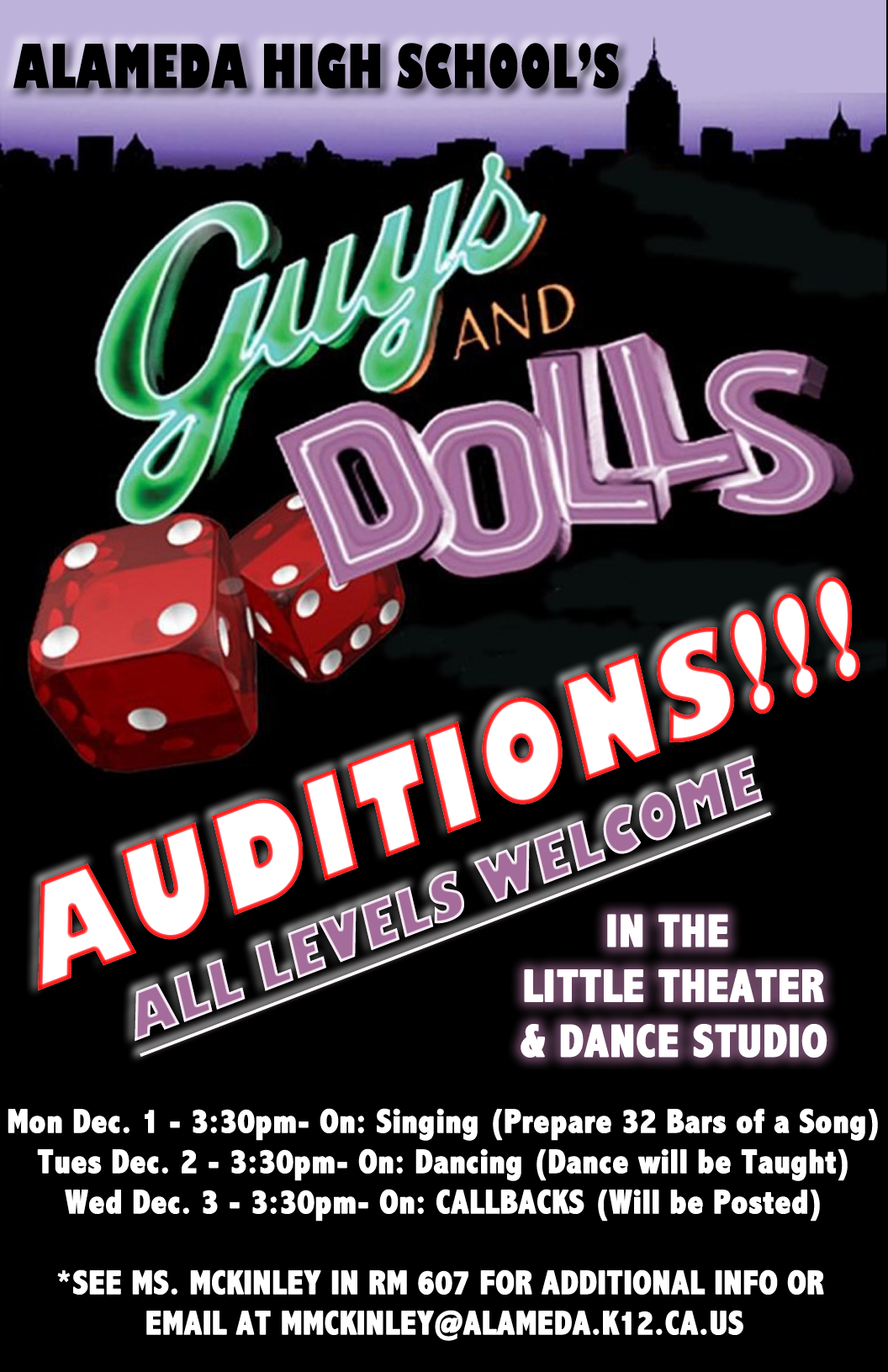 GUYS & DOLLS AUDITIONS!!!
