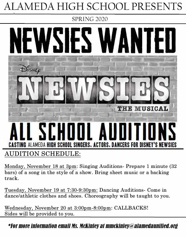 Audition for Newsies