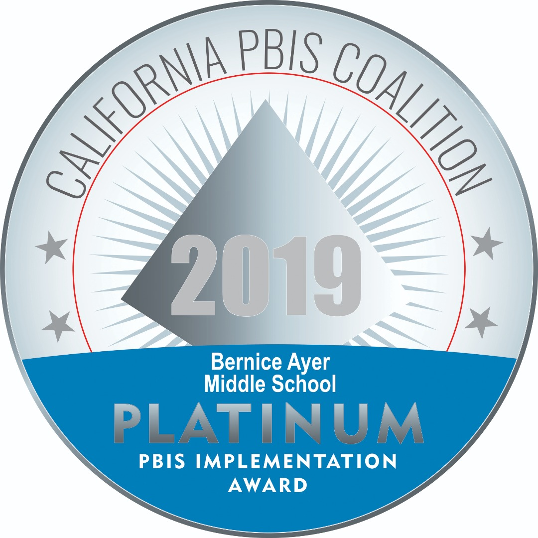 BAMS is recognized with the highest level of implementation for our PBIS  program!