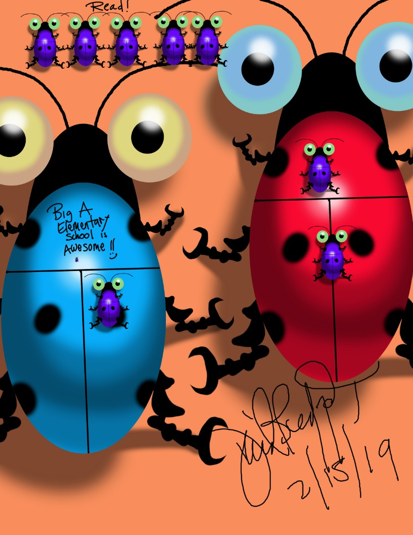 Autograph picture of ladybugs
