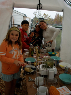 Cooking in the Outdoor Learning Center