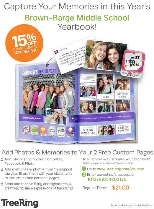 Yearbook flyer - TreeRing.com code 1013789214203129