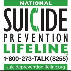 Suicide Prevention Lifeline (1-800-273-8255)