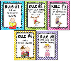 These are the rules we follow in our classroom.