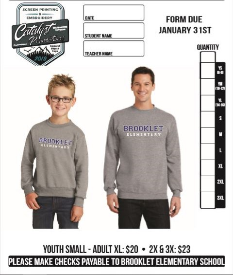 sweatshirt order form