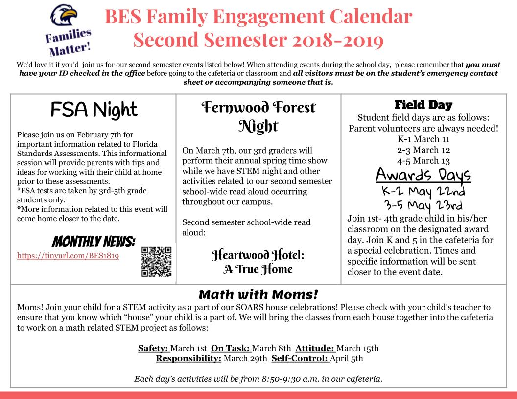 Family Engagement 2nd Semester
