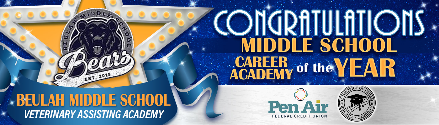 Congratulations, Middle School Career Academy of the Year goes to BMS