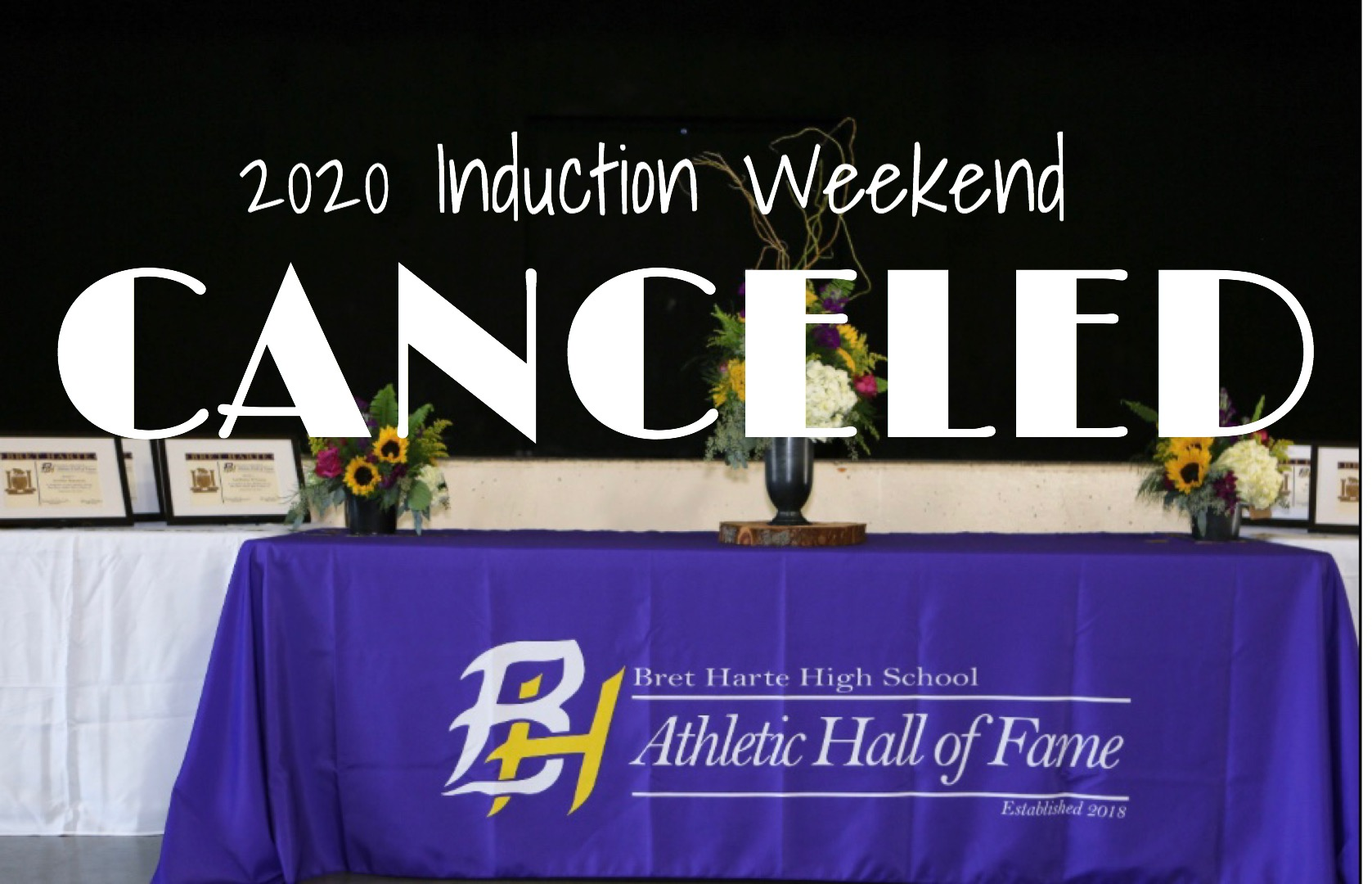 2020 Induction Weekend Canceled